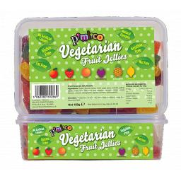 Pimlico Vegetarian Fruit Jellys 450 Grams Tubs