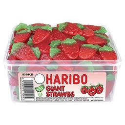 Haribo Giant Stawbs (120 pieces)