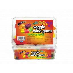 Pimlico Veggie Wine Gums Fruit 450 Grams Tubs