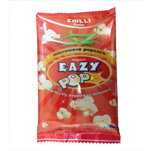 EAZYPOP Microwave Popcorn Chilli Flavour 100g
