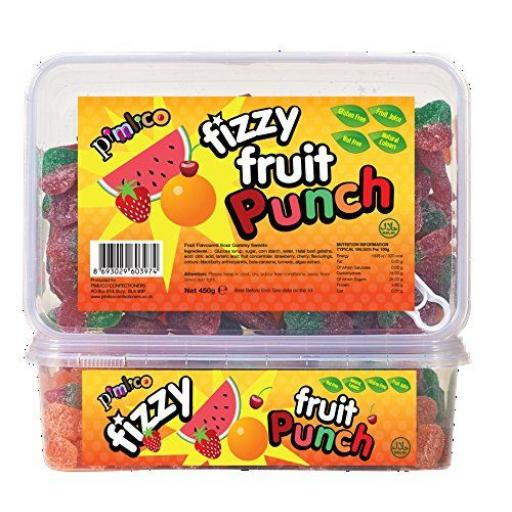 PIMLICO FIZZY FRUIT PUNCH 450G IN TUBS