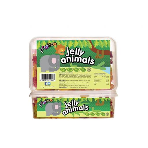 PIMLICO JELLY ANIMALS 450G IN TUBS