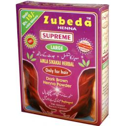 Zubeda Herbal Dark Brown Henna with Amla and Shikakai