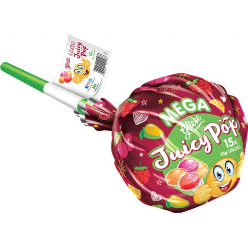 Juicy Pop Mega Lollipop – Assorted Flavours inc 15 lolly pops