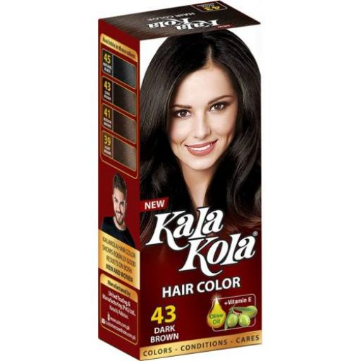 Kala Kola Hair Color - 43 Dark Brown With Olive Oil + Vitaman E