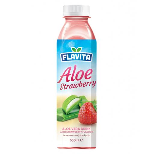 Aloe Vera Drink – With Strawberry Flavour 500ml x 12
