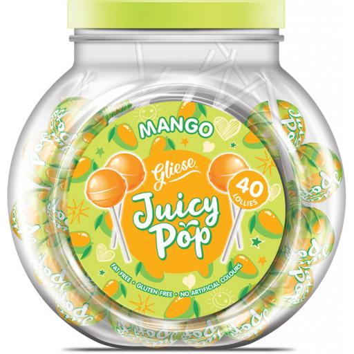 Juicy Pop Lollipops – Mango Flavour x 40 Lolly Pops