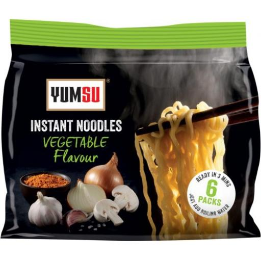 Yumsu Instant Noodles – Vegetable Flavour x 6 Noodles