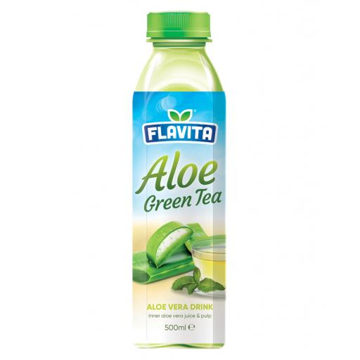 Aloe Vera Drink – Green Tea Flavour 500ml x 12
