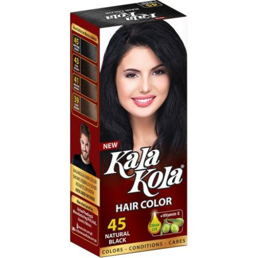 Kala Kola Hair Color Dye - 45 Natural Black, Brown With Olive Oil