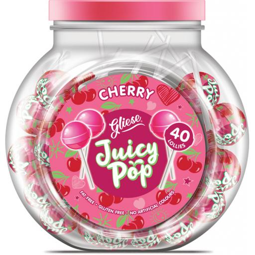 Juicy Pop Lollipops – Cherry Flavour 40 Lolly pops