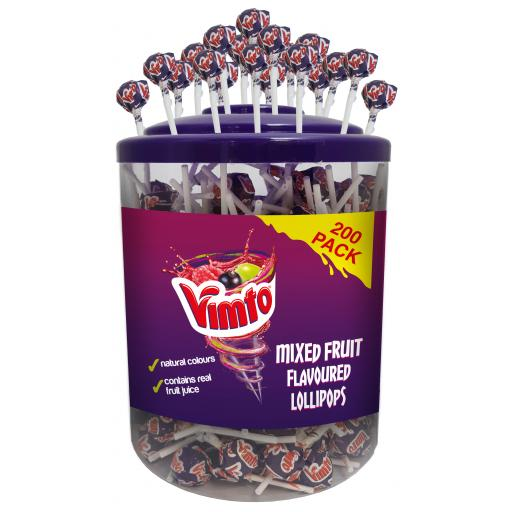 Vimto Lollypops 200 pcs in a Jar