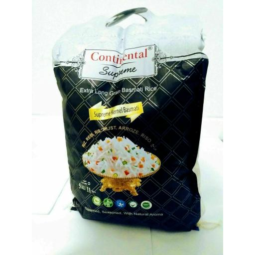 Continental Supreme Super Kernal Basmati Rice 5 Kg