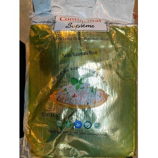 Continental Supreme Sella Basmati Rice, Extra Long Grain, Superior Quality, 10 KG