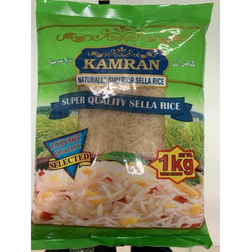 KAMRAN NATURALLY SUPERIOR SELLA Rice, Extra Long Grain, Quality, 1 KG