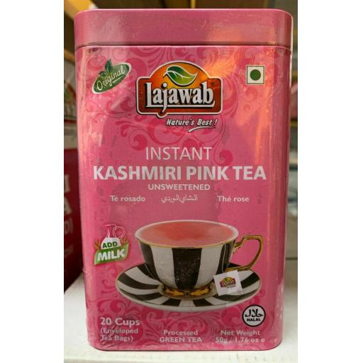Pink Instant Tea Kashmiri Tea Chai Just add Hot Milk Lajawab 20 Sachets 50g