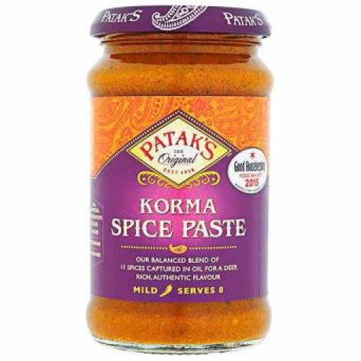 Pataks Korma Curry Paste 290 Gr