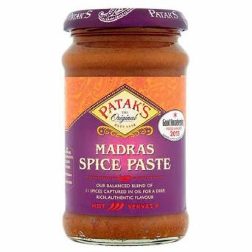 PATAK'S MADRAS SPICE SAUCE PASTE 283 Grams