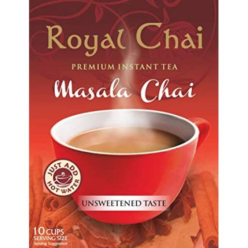 Royal Chai masala chai- unsweetened 10 Serving 220g