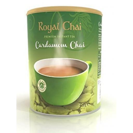 Royal Chai Elaichi Tub - Unsweetened 22 Servings (400g)