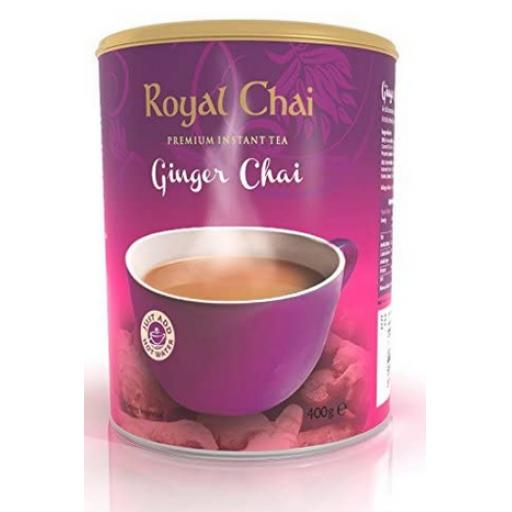 Royal Chai Ginger Tub - Unsweetened 22 Servings (400g)